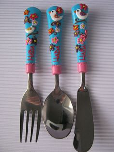 Childrens Gift,Birds,Unique Gifts,Cutlery for Kids,Pink,Personalized Cutlery,for Children,Birthday gift,Flowers,Gift For Kids,Flatware,Pink,Blue,Handmade personalized cutlery for children and adults. Perfect gift for birthdays. Handmade personalized cutlery for children and adults.