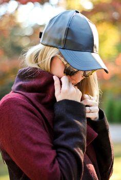 Leather cap...