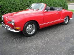 1971 Volkswagen Karmann Ghia, a classic convertible car with the numbers matched in red, available in Toronto, Ontario.