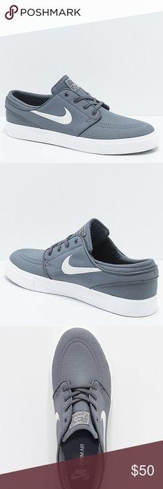 new styles f413a 0f76d Nike SB Janoski Grey   White Skate Shoes New Nike SB Janoski Grey   White  Skate