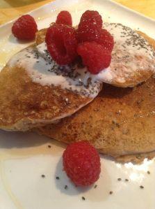Properly prepared pancakes, gluten-free.