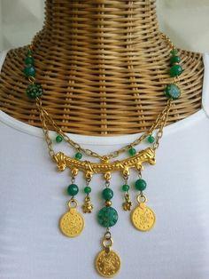 #handmade #jewelry #necklace #green