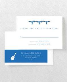 Austin Skyline RSVP Card