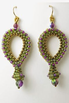I have short hair and I love earrings, to making my own was kind of a natural. I love that I can play with color in a small place, as well ...