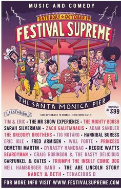 Festival Supreme. My husband and I are road trippin' for this one! Soooo excited for Santa Monica!