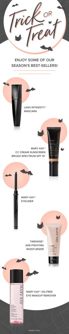 When you've got it, haunt it! Update your skin care and makeup routine with our best-sellers for fall. Oil Free Makeup, Mary Kay Cosmetics, Beauty Consultant, Eye Makeup Remover, Skin Care Remedies, Makeup Routine, Gorgeous Makeup, Best Makeup Products, Best Sellers
