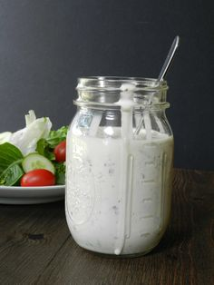 This is the perfect Homemade Ranch Dressing recipe! Made from scratch with fresh herbs, and a dairy-free option.