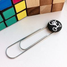 Retro Chopper Bicycle Bookmark black and white by CheekyGeeky, £3.50