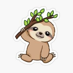 Funny Koala, Cute Sloth, Koala Meme, Stickers Kawaii, Cute Stickers, Griffonnages Kawaii, Sloth Cartoon, Sloth Drawing, Cute Baby Sloths