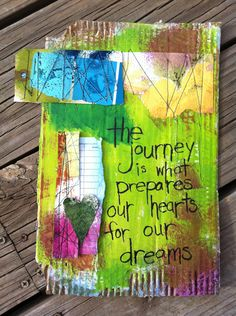 """The journey is what prepares our hearts for our dreams."" :))"