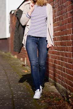 Spring Capsule 2016 - Striped Shirt Jeans Outfit Spring