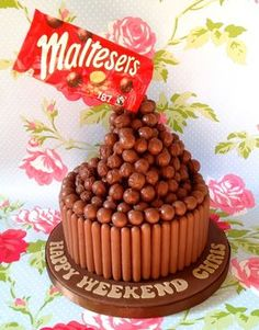 Floating maltesers cake by she who bakes @shewhobakes1  - will see if Will can make this for the village fete bakeoff #gbbo