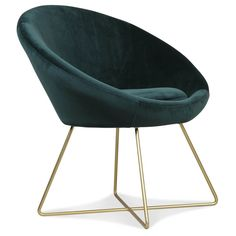 Fauteuil en velours vert | KOTECAZ  #fauteuil #fauteuilenvelours #déco #décoration #kotecaz #salon Hobby Design, Design Lounge, Green Armchair, Deco Retro, Blue Rooms, Green Velvet, Bassinet, Living Room, Bed