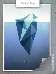 """Vintage Poster """"Schein und Sein"""" / Eisberg"""