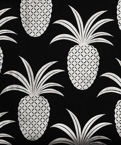Silver Pineapple Wallpaper, Meg Mathews. Available in store and online liberty.co.uk