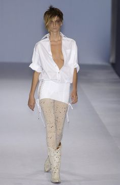 Jean Paul Gaultier at Paris Fashion Week Spring 2004 - Runway Photos Paul Gaultier Spring, Jean Paul Gaultier, Paris Fashion, Lace Skirt, Runway, Photos, Pictures, Skirts, Outfits
