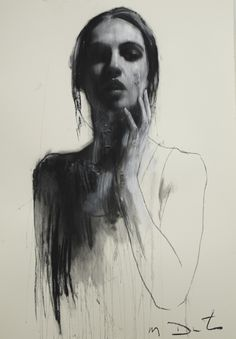 Study for Siren | Mark Demsteader.  Pastel and collage
