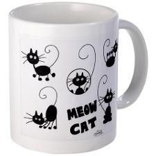 Meow Cat 4 Small Mugs