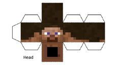Minecraft Papercraft Steve (Large)
