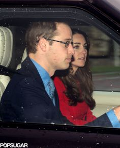 Prince William and Kate Middleton at Royal Christmas Lunch