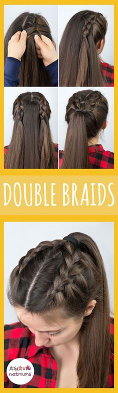 Try these easy double braids. Braids have been a massive trend lately, but some of them look so fiddly. Here we have a great selection of easy hairstyles that you can recreate at home.