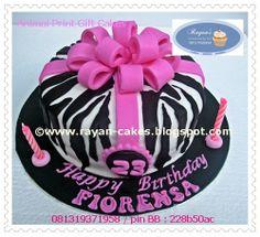 Animal Print Fondant Birthday Cakes by Rayan Cakes, Jakarta
