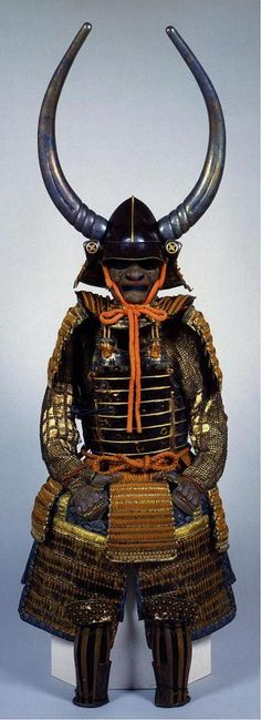 浅野長政 Asano Nagamasa (1546 – 1611). 浅野長政所用 茶色威桶側五枚胴具足 (大阪城天守閣蔵)