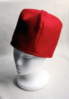 Red Wool Acorn Hat for a Medieval Costume or SCA Garb, Made to Order, in my Etsy Shop