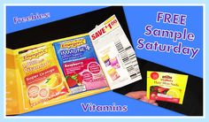 Free Sample Saturdays!- Free Vitamins & Emergen-C Even free samples of nature made hair skin and nails biotin !