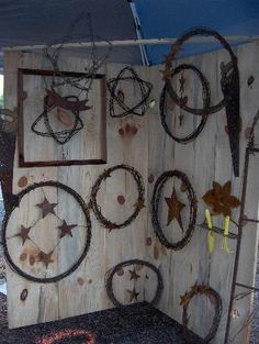 recycled barbed wire crafts
