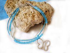 Triple handmade turquoise bracelet by twolittlefairies on Etsy