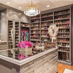 Interior Design Decor Dream House Decoration In Built Shoe Clothes Wadbrobe Chandelier Flowers