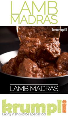 A Lamb Madras Curry in a British Indian Curry House has become synonymous with a fiercely hot curry and not much else. Not my version which packs many more complex flavours but still keeps a punch of heat from chilli and black pepper. Halal Recipes, Lamb Recipes, Indian Food Recipes, Vegetarian Recipes, Chicken Recipes, Cooking Recipes, Turkish Recipes, Thai Recipes, Rice Recipes