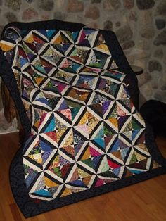 Stained Glass look tube quilt