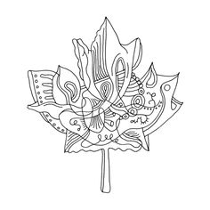 Abstract Line Drawing / Page 5888 / The Page Colouring Book / Canadian Maple Leaf / Canada 150 Logo Alternative / Free Colour. Leaf Coloring Page, Truck Coloring Pages, Colouring Pages, Printable Coloring Pages, Adult Coloring Pages, Abstract Drawings, Abstract Lines, Canada 150 Logo, Maple Leaf Drawing