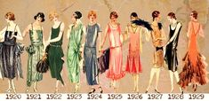Theme Progressive Modernity Style Icon: The Flapper This is Part 1 of a 3 Part Art Deco Fashion History Series, broken out into 3 Art Deco Themes: Moda Retro, Moda Vintage, Vintage Mode, Vintage Prom, Vintage Hats, Vintage Outfits, 1920s Outfits, Vintage Clothing, 1920s Fashion Women