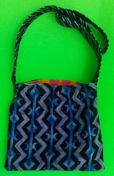 Sparkly Blue Tote/Small/single strap/cross shoulder tote by handbags, art, paintings,side bags, upcycled, fashion, barbie