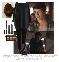 """Imagine you are the only one Young Derek trusts after Kate changes him"" by paytonxxx ❤ liked on Polyvore featuring Pieces, Stila, imagine, TeenWolf, derekhale, imagines and DerekHaleOutfits"