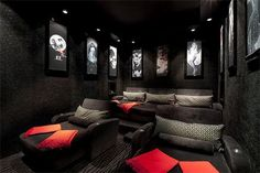 a private in home movie theatre