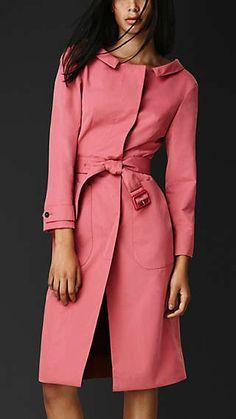 Dipped Collar Dress Coat
