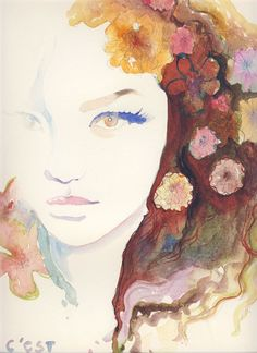 Watercolor. One of my favorite art forms. <3<3 (: