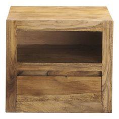 Comodino in massello di legno di sheesham con cassetto L 40 cm - Stockholm