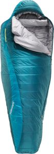 The women's Therm-a-Rest Capella Sleeping Bag offers three-season backpacking comfort and all-weather peace-of-mind.