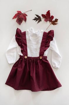 This lovely maroon cotton dress is very versatile and can be worn year round on . - - This lovely maroon cotton dress is very versatile and can be worn year round on multiple holidays, occasions, or everyday adventures. The straps are c. Little Girl Outfits, Little Girl Fashion, Baby Outfits, Fashion Kids, Toddler Fashion, Toddler Outfits, Toddler Girl Style, Woman Fashion, Dress Fashion