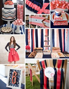 Coral and Navy Wedding Inspiration - bow ties and bliss blog