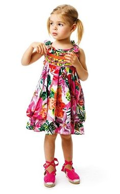 Adorable Catimini Tropical Paradise Print Sundress