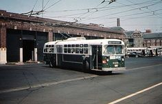 """Old Look"" GMC diesel bus operating on Rt.E PHILADELPHIA"