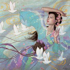 Master Artist In Oriental Painting by Karl Bang