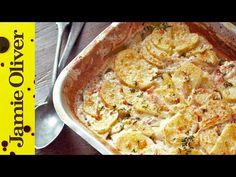 Jamie Oliver Dinner Ideas : Jamie's Quick Potato Dauphinoise - Jamie Oliver Dinner Ideas Video Jamie Oliver Dinner Ideas This super-speedy potato dauphinoise recipe is a great idea if you're short on time but still Jamie Oliver Potatoes, Jamie Oliver Quick, Jamie Oliver 30 Minute Meals, Potato Recipes, Vegetable Recipes, Chicken Recipes, Jamie's 30 Minute Meals, Great Recipes, Recipes
