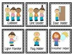 Here's a set of classroom job cards for use in a pocket chart.